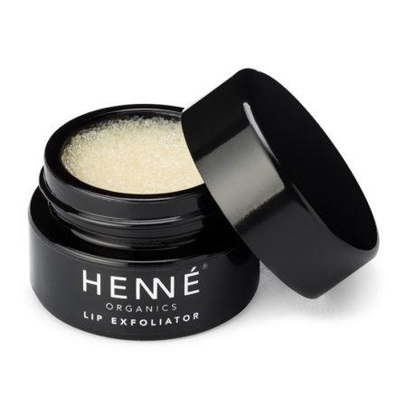 Henné Organics Lip Exfoliator Lavender Mint Open Pot
