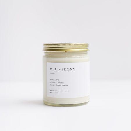Brooklyn Candle Studio Wild Peony Minimalist Front