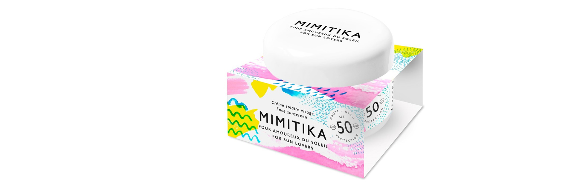 Mimitika Face Cream Brand Background