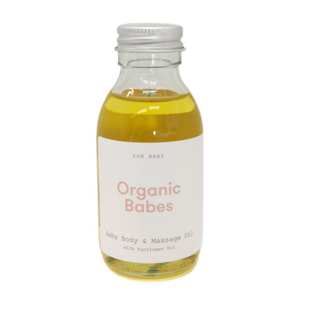 Organic Babes Baby Body & Massage Oil Front