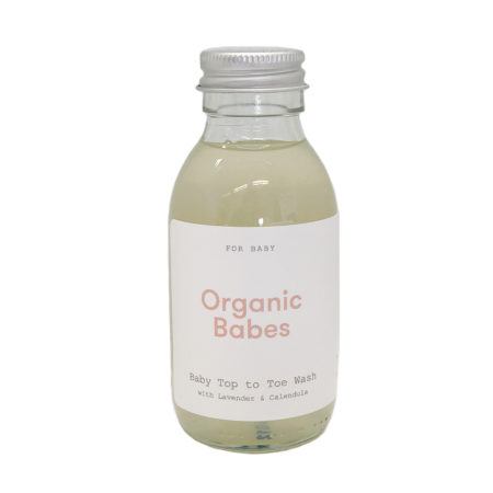 Organic Babes Baby Top to Toe Wash Front