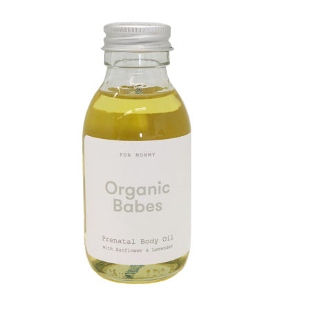 Organic Babes Prenatal Body Oil Front
