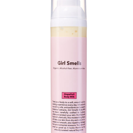 Girl Smells Body Milk Grapefruit