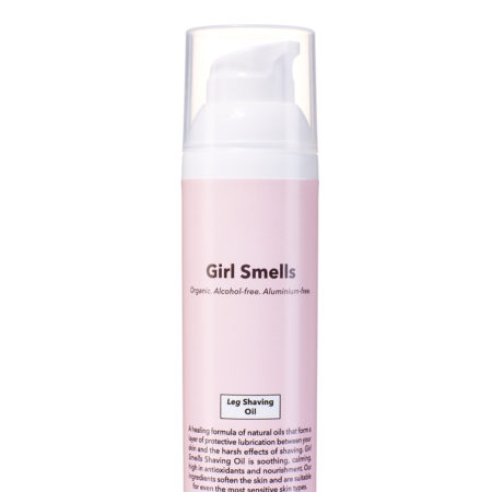 Girl Smells Leg Shaving Oil