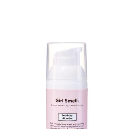 Girl Smells Soothing Aloe Gel